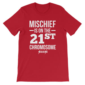 Unisex short sleeve t-shirt---Mischief---Click for more shirt colors