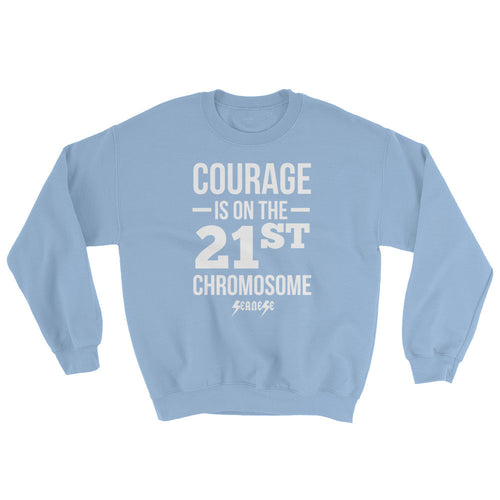 Sweatshirt---Courage White Design---Click for more shirt colors