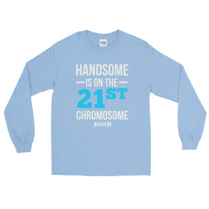 Long Sleeve T-Shirt---Handsome Blue/White Design---Click for more shirt colors