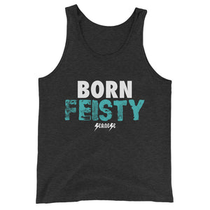 Unisex  Tank Top---Born Feisty---Click for more shirt colors