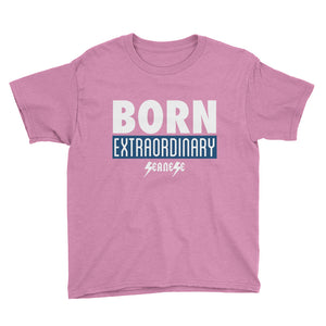Youth Short Sleeve T-Shirt---Born Extraordinary---Click for more shirt colors