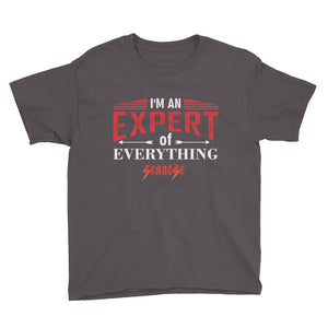 Youth Short Sleeve T-Shirt---Expert of Everything---Click for more shirt colors