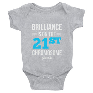 Infant Bodysuit---Brilliance Blue/White Design---Click for more shirt colors