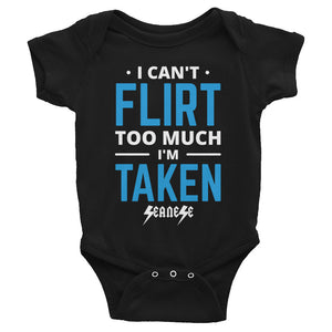 Infant Bodysuit---Can't Flirt Too Much Boy--Click for more shirt colors