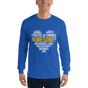Long Sleeve T-Shirt---Awesome Heart Word Art---Click for more shirt colors