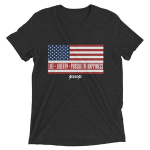 Upgraded Soft Short sleeve t-shirt---Short-Sleeve Unisex T-Shirt---Life, Liberty, Pursuit of Happiness---Click for more shirt colors