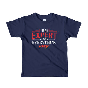 Toddler Short sleeve kids t-shirt---Expert of Everything---Click for more shirt colors