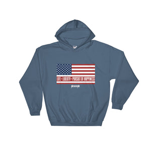 Hooded Sweatshirt---Life, Liberty, Pursuit of Happiness---Click for more shirt colors