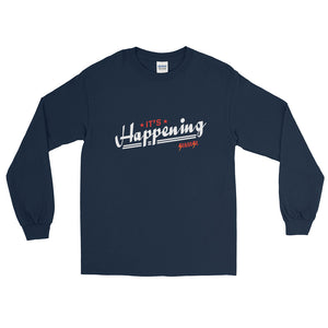 Long Sleeve WARM T-Shirt---It's Happening Red/White Design---Click for more shirt colors