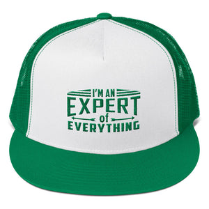 Trucker Cap---Expert of Everything Green Design