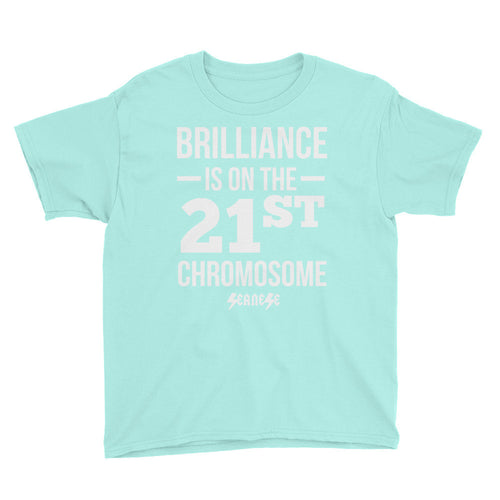 Youth Short Sleeve T-Shirt------Brilliance White Design---Click for more shirt colors