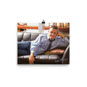 Poster Autographed Sean on Couch 8x10