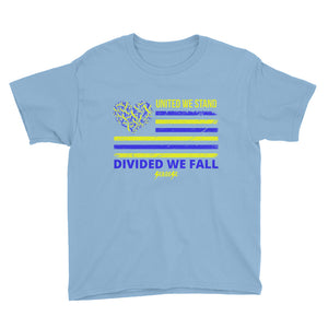 Youth Short Sleeve T-Shirt---United We Stand Divided We Fall---Click for more shirt colors