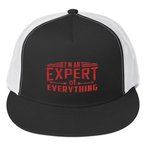 Trucker Cap---Expert of Everything Red Design---Click for more hat colors