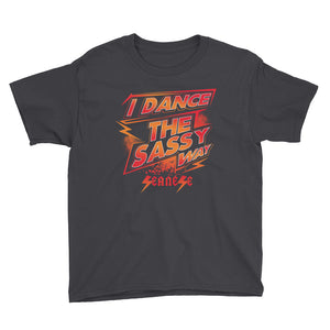 Youth Short Sleeve T-Shirt---Dance Sassy Red/Orange Design---Click for more shirt colors