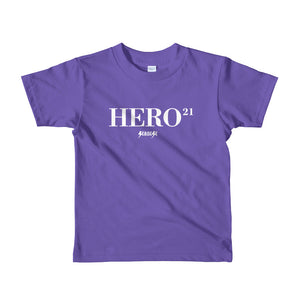 Toddler Short sleeve kids t-shirt---21Hero---Click for more shirt colors