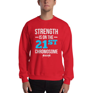Sweatshirt---Strength Blue/White Design---Click for more shirt colors