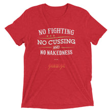 Upgraded Soft Short sleeve t-shirt---No Fighting White Design---Click for more shirt colors