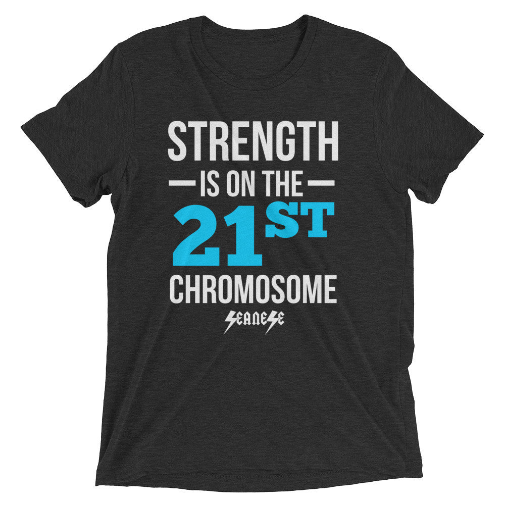 Upgraded Soft Short sleeve t-shirt---Strength Blue/White Design---Click for more shirt colors