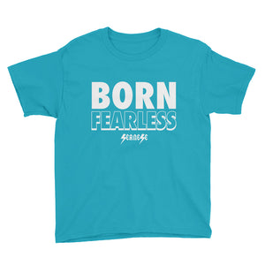 Youth Short Sleeve T-Shirt---Born Fearless---Click for more shirt colors