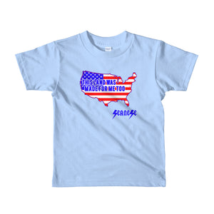 Toddler Short sleeve kids t-shirt---Land Made for Me Too---Click for more shirt colors