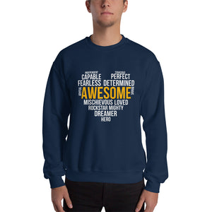Sweatshirt---Awesome Heart Word Art---Click for more shirt colors