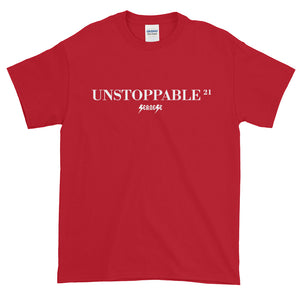 Short sleeve t-shirt Thick Cotton to Make Dad Happy---21Unstoppable---Click for more shirt colors