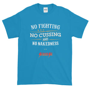 Short-Sleeve T-Shirt Thick Cotton to Make Dad Happy----No Fighting---Click for more shirt colors