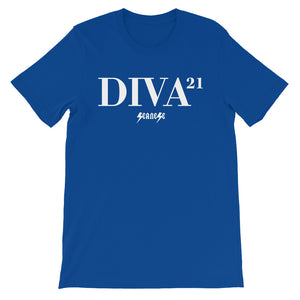 Unisex short sleeve t-shirt---21 Diva---Click for more shirt colors