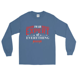 Long Sleeve WARM T-Shirt---Expert of Everything Red/White Design---Click for more shirt colors