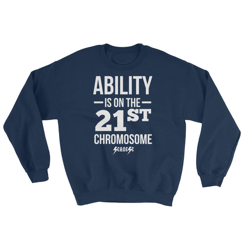 Sweatshirt------Ability White Design---Click for more shirt colors