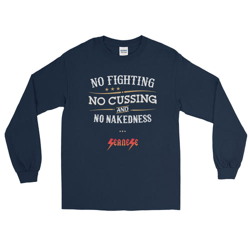 Long Sleeve WARM T-Shirt---No Fighting White Design---Click for more shirt colors