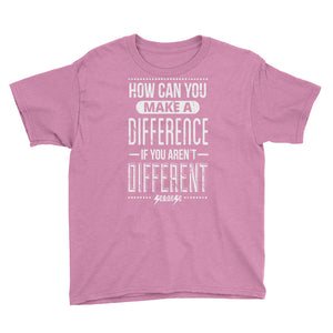 Youth Short Sleeve T-Shirt---How Can You Make a Difference---Click for more shirt colors