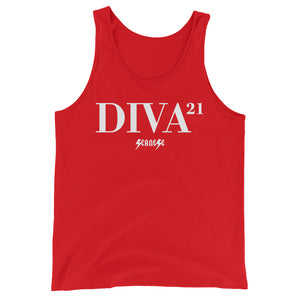 Unisex  Tank Top---21 Diva---Click for more shirt colors