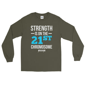 Long Sleeve T-Shirt---Strength Blue/White Design---Click for more shirt colors