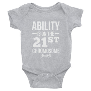 Infant Bodysuit---Ability White Design---Click for more shirt colors