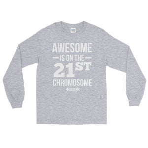 Long Sleeve WARM T-Shirt---Awesome White Design---Click for more shirt colors