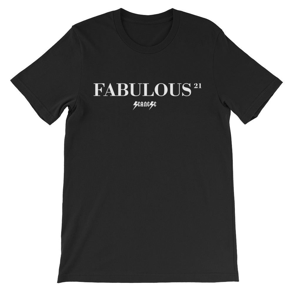 Unisex short sleeve t-shirt---21Fabulous---Click for more shirt colors