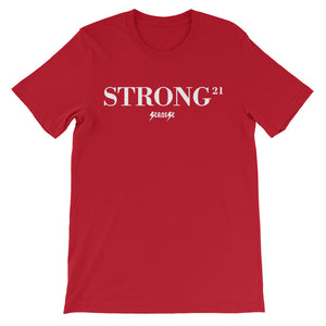 Unisex short sleeve t-shirt---21Strong---Click for more shirt colors