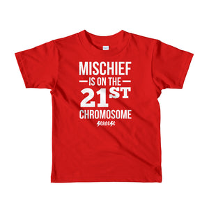 Toddler Short sleeve kids t-shirt---Mischief---Click for more shirt colors