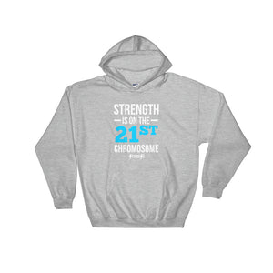 Hooded Sweatshirt---Strength Blue/White Design---Click for more shirt colors