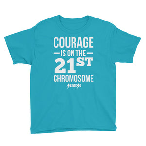 Youth Short Sleeve T-Shirt---Courage White Design---Click for more shirt colors