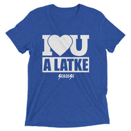 Upgraded Soft Short sleeve t-shirt---I Love You A Latke
