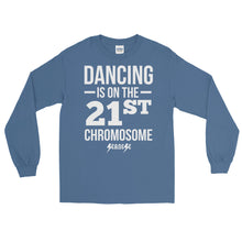 Long Sleeve WARM T-Shirt---Dancing White Design---Click for more shirt colors