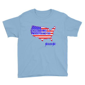 Youth Short Sleeve T-Shirt---Land Made for Me Too---Click for more shirt colors