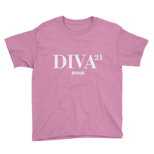 Youth Short Sleeve T-Shirt---21 Diva---Click for more shirt colors