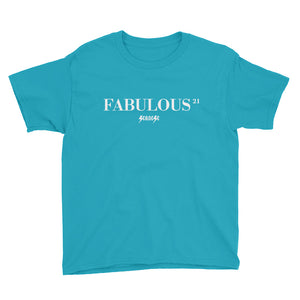 Youth Short Sleeve T-Shirt---21 Fabulous---Click for more shirt colors