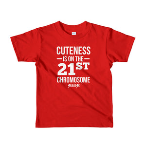 Toddler Short sleeve kids t-shirt---Cuteness---Click for more shirt colors