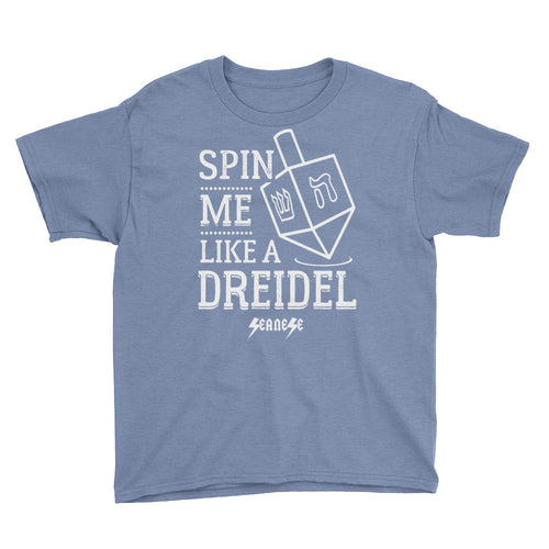 Youth Short Sleeve T-Shirt---Spin Me Like a Dreidel