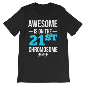 Unisex short sleeve t-shirt---Awesome Blue/White Design---Click for more shirt colors